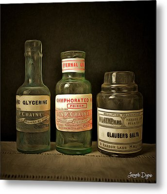 Old Chemist Metal Print by Leonardo Digenio