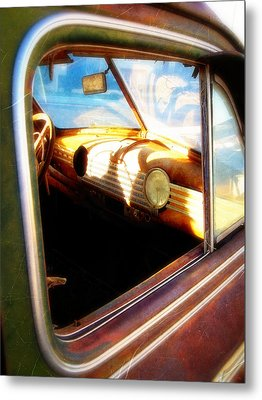 Metal Print featuring the photograph Old Chevrolet Dashboard by Glenn McCarthy Art and Photography