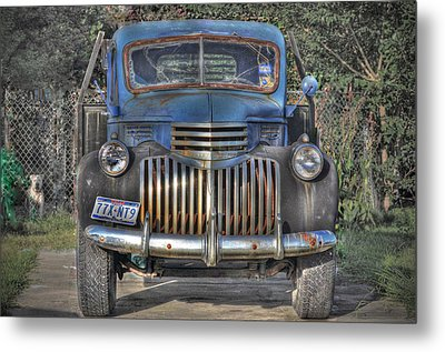 Metal Print featuring the photograph Old Chevy Truck by Savannah Gibbs
