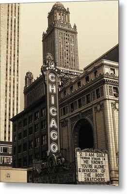 Old Chicago Theater - Vintage Art Metal Print