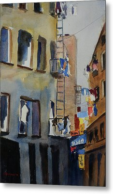 Old Chinatown Lane Metal Print