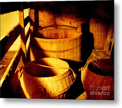 Old Chinese Attic 5 Metal Print by Kathy Daxon