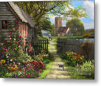Old Church Path Metal Print
