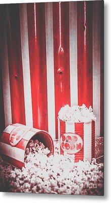 Old Cinema Pop Corn Metal Print