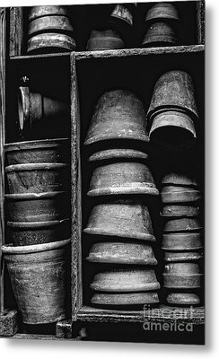 Metal Print featuring the photograph Old Clay Pots by Edward Fielding