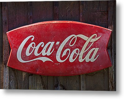 Old Coca-cola Sign On Barn Metal Print by Garry Gay