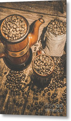 Old Coffee Brew House Beans Metal Print by Jorgo Photography - Wall Art Gallery