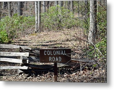 Old Colonial Road Metal Print by Bruce Gourley
