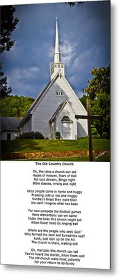 Old Country Church Metal Print by John Haldane