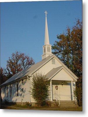 Old Country Church Metal Print by Kathy Bucari