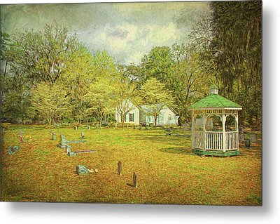 Metal Print featuring the photograph Old Country Church by Lewis Mann