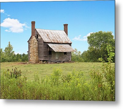 Old Country Farm House Metal Print