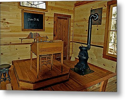 Old Country School Room Metal Print by Ralph  Perdomo