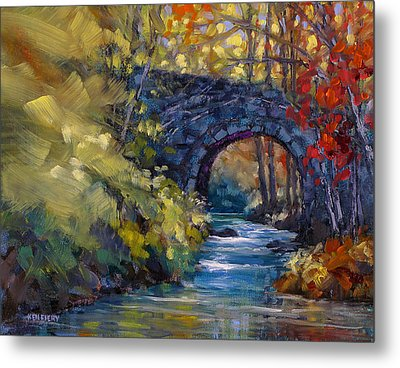 Old County Farm Bridge Metal Print