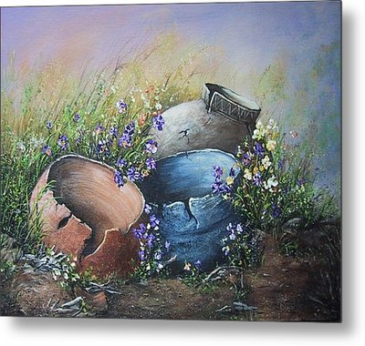 Old Crocks Metal Print by Theresa Jefferson