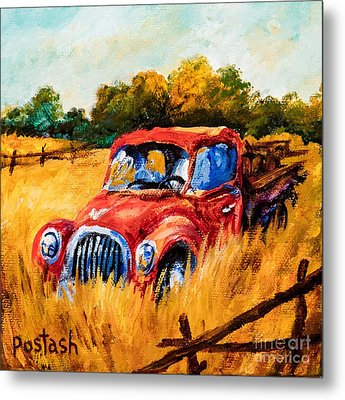 Metal Print featuring the painting Old Friend by Igor Postash