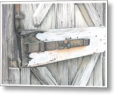 Old Door At Ravello Italy Metal Print by Wilfrid Barbier