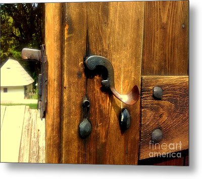 Old Door Handle Metal Print