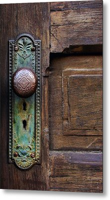 Old Door Knob Metal Print by Joanne Coyle
