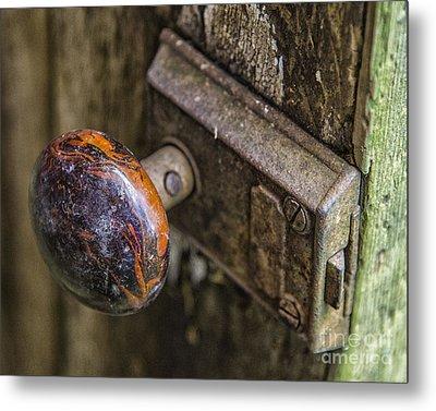 Old Door Knob Metal Print