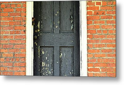Metal Print featuring the photograph Old Door by Zawhaus Photography