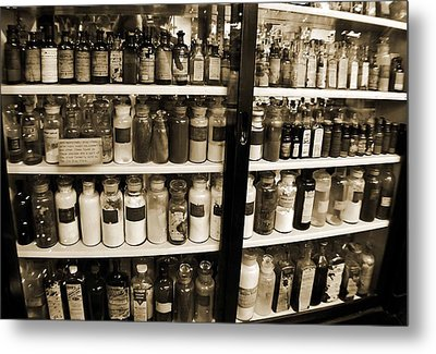 Old Drug Store Goods Metal Print by DigiArt Diaries by Vicky B Fuller