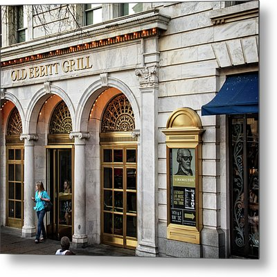 Old Ebbitt Grill Metal Print by Chrystal Mimbs