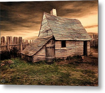 Old English Barn Metal Print