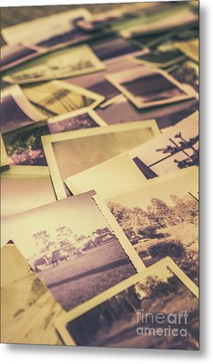 Old Faded Film Photography Metal Print