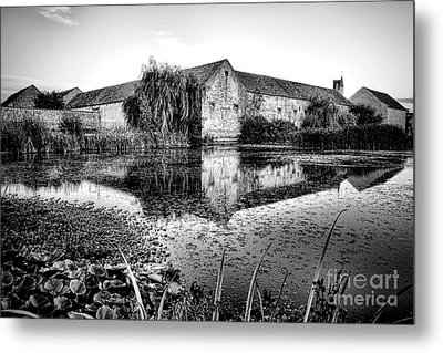 Old Farm And Pond In France Metal Print