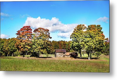 Metal Print featuring the photograph Old Farm House by Onyonet  Photo Studios