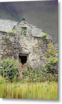 Old Farm Near Betws Y Coed Metal Print by Alwyn Dempster Jones