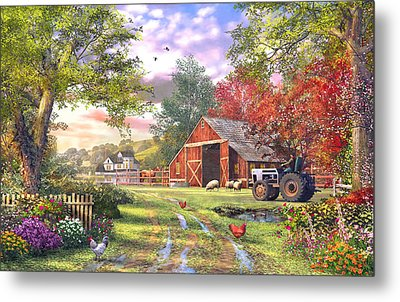 Old Farmhouse Metal Print by Dominic Davison