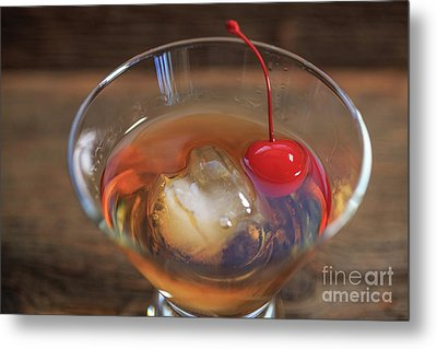 Metal Print featuring the photograph Old Fashioned Cocktail by Edward Fielding