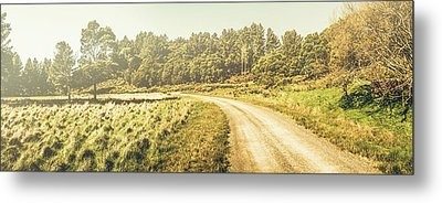 Old-fashioned Country Lane Metal Print by Jorgo Photography - Wall Art Gallery