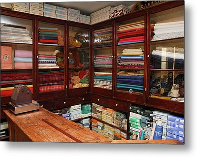 Old-fashioned Fabric Shop Metal Print by Gaspar Avila