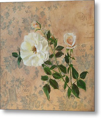Old Fashioned Rose Metal Print by Carrie Jackson