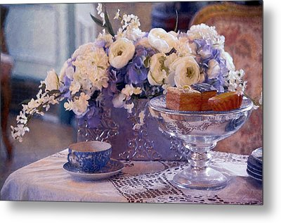 Old Fashioned Tea Party Metal Print by Maria Angelica Maira