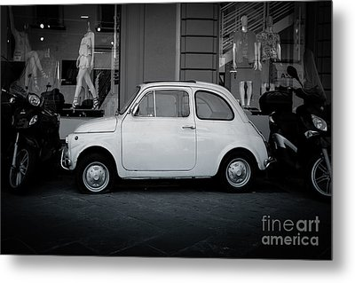 Old Fiat On The Streets Of Florence Metal Print by Edward Fielding