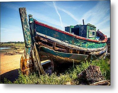 Old Fishing Boat Metal Print by Carlos Caetano