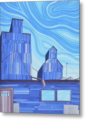 Metal Print featuring the painting Old Flat Top by Scott Kirby