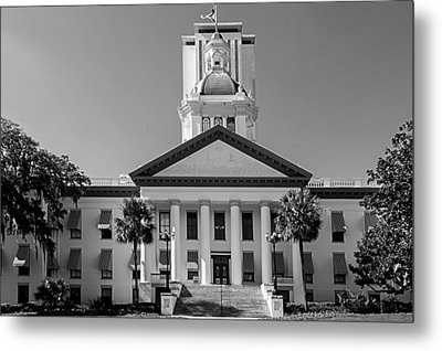 Old Florida Capitol In Black And White  Metal Print by Frank Feliciano