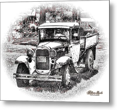 Old Ford Homemade Pickup Metal Print by William Havle