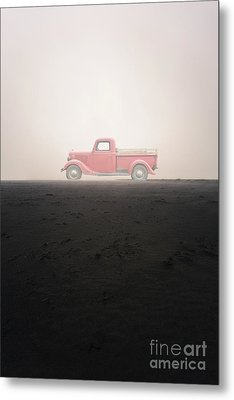 Old Ford Pick Up Truck In The Mist Metal Print