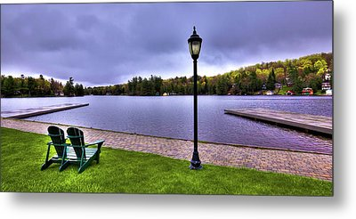 Old Forge Waterfront Metal Print by David Patterson