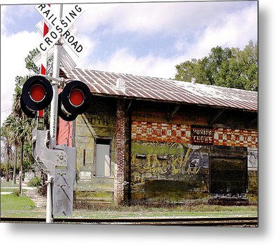Old Freight Depot Perry Fl. Built In 1910 Metal Print