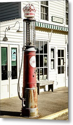 Metal Print featuring the photograph Old Fuel Pump by Alexey Stiop