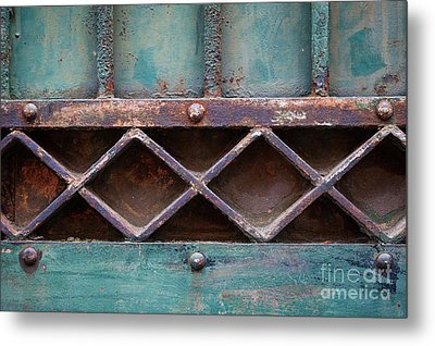 Old Gate Geometric Detail Metal Print by Elena Elisseeva