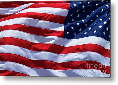 Metal Print featuring the photograph Stitches Old Glory American Flag Art by Reid Callaway