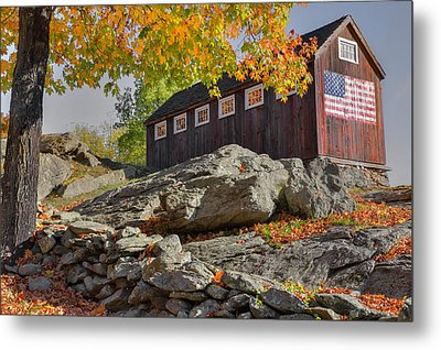 Old Glory Autumn Metal Print by Bill Wakeley